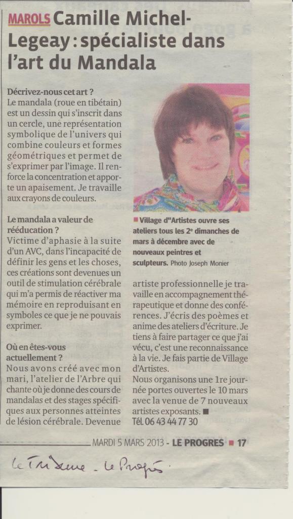 La Tribune Le progrés 5 mars 2013